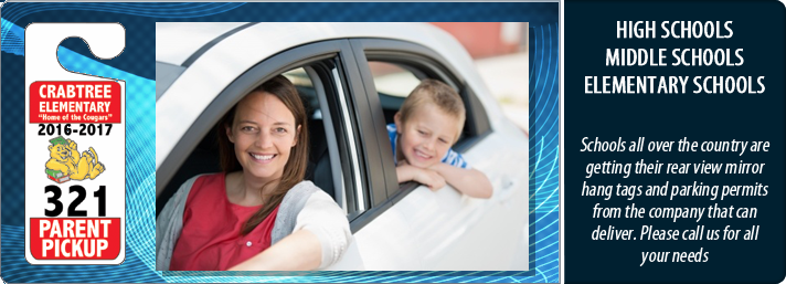 Car Rider Passes & Parent Pickup Hang Tag ID