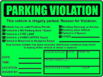 Parking Violations Stickers Notices