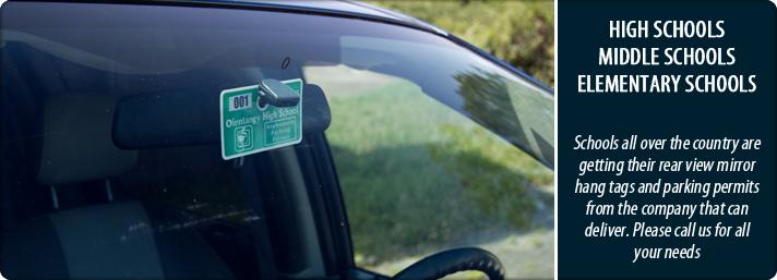 Custom Parking Permit Hang Tags K12parkingpermits Com