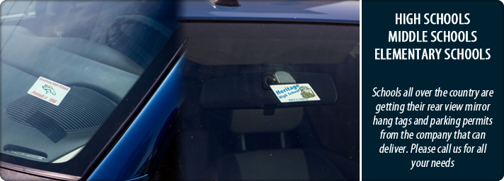 Static cling parking permits stickers and parking permit decals
