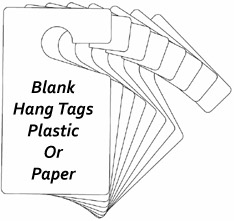 Blank Hang Tags Plastic Or Card Stock