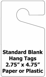 Blank Hang Tags Plastic Or Paper K12parkingpermits Com